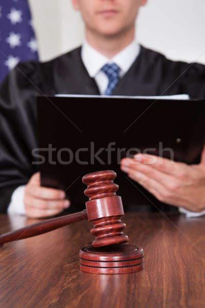 Сток-фото: мужчины · судья · молоток · книга · человека