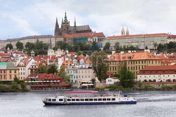 View Praga castello ponte Repubblica Ceca chiesa Foto d'archivio © AndreyPopov