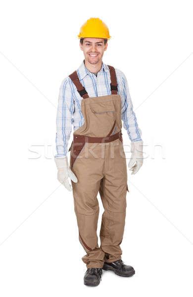 Confident happy workman Stock photo © AndreyPopov