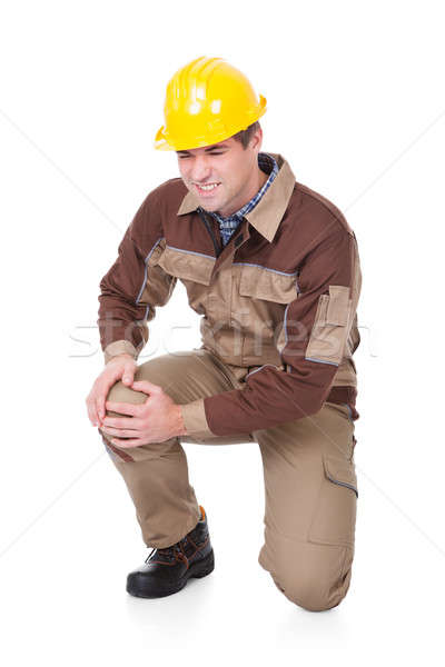Mechanic Suffering From Knee Injury Stock photo © AndreyPopov
