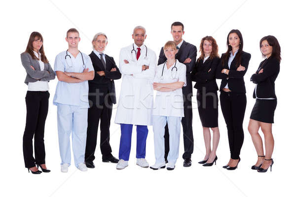 Hospital staff group Stock photo © AndreyPopov