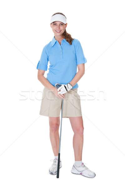 Golfer with a golf club Stock photo © AndreyPopov
