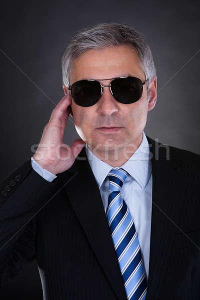 肖像 男性 ボディ ガード 黒 ビジネス ストックフォト © AndreyPopov