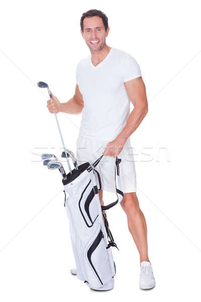 Golf Player Removing Golf Club From Golf Bag Stock photo © AndreyPopov