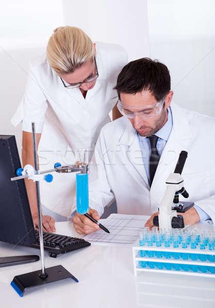 Stockfoto: Lab · werk · laboratorium · twee · arts · medische