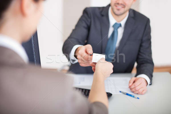 Young businessman at the interview Stock photo © AndreyPopov