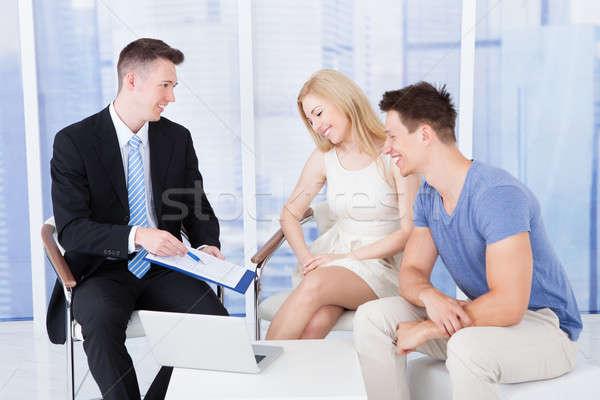Finansowych konsultant nowego projektu inwestycja Zdjęcia stock © AndreyPopov
