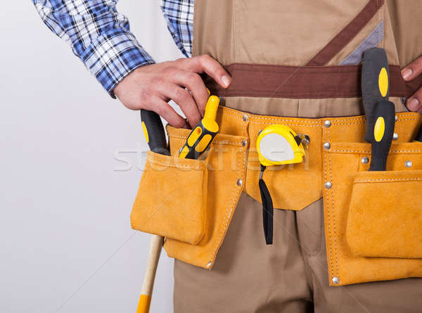 Foreman Wearing Tool Belt Stock photo © AndreyPopov