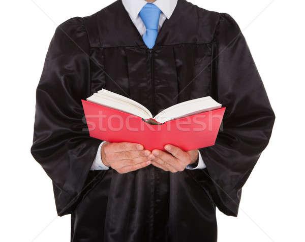 Judge Holding Statute Book Stock photo © AndreyPopov