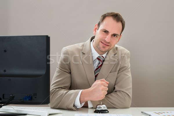 Businessman Using Service Bell Stock photo © AndreyPopov