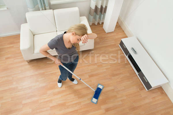 Tired Woman With Mop Stock photo © AndreyPopov
