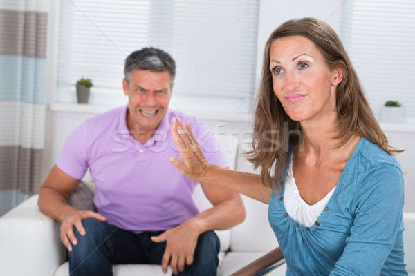Man Shouting To His Wife Stock photo © AndreyPopov