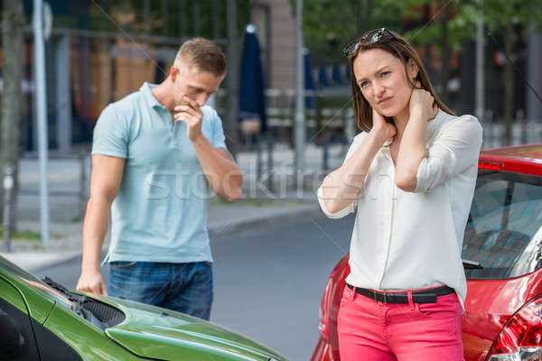 Woman Getting Wounded After Car Collision Stock photo © AndreyPopov