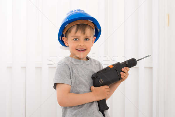 Boy Holding Electric Drill Stock photo © AndreyPopov