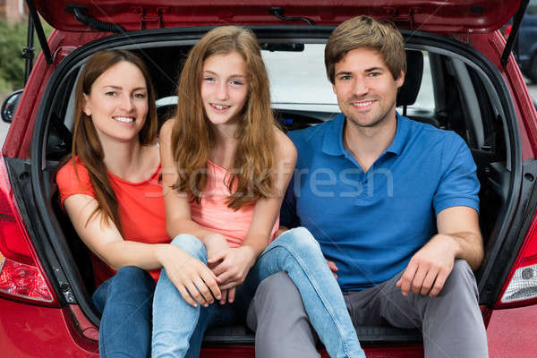 Family Sitting In Trunk Of Their Car Stock photo © AndreyPopov