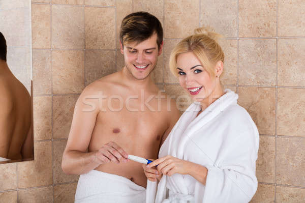 Couple Finding Out Results Of A Pregnancy Test Stock photo © AndreyPopov