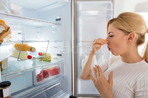 Woman Recognized Bad Smell From The Refrigerator Stock photo © AndreyPopov
