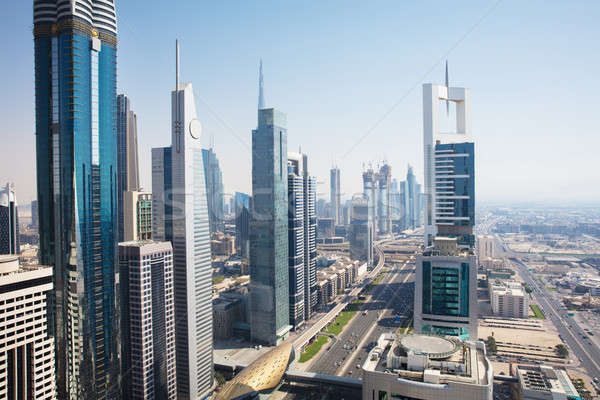 View Of Sheikh Zayed Road Stock photo © AndreyPopov