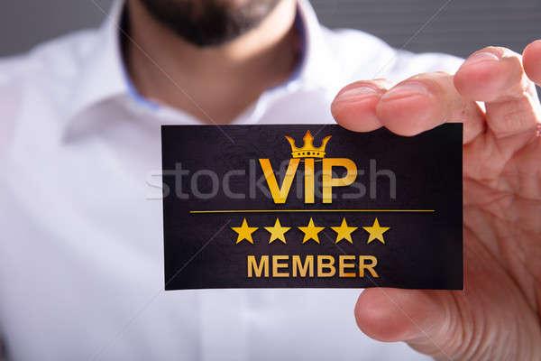 ビジネスマン vip メンバー カード クローズアップ ストックフォト © AndreyPopov