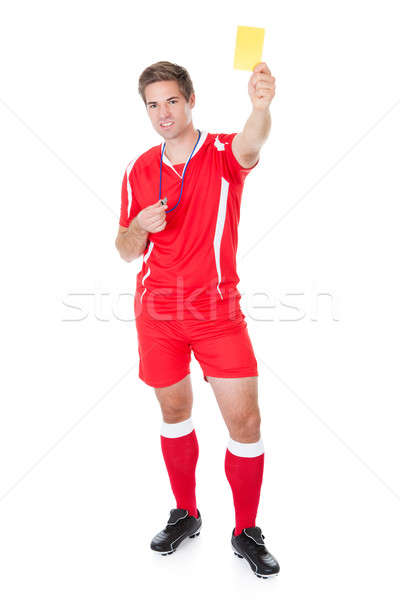 Soccer Referee Showing Yellow Card Stock photo © AndreyPopov