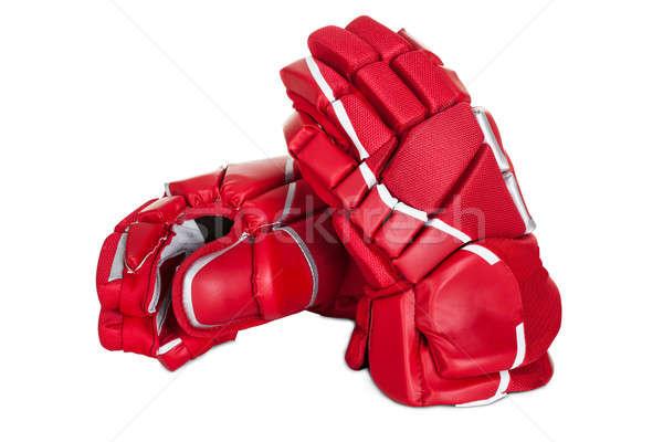 Par hockey guantes aislado blanco manos Foto stock © AndreyPopov