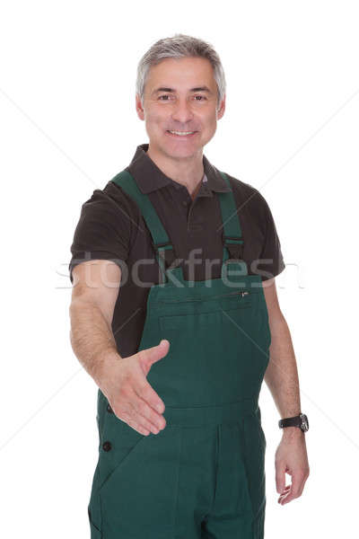 Mature Male Gardner Offering Handshake Stock photo © AndreyPopov