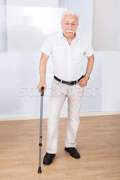 Portrait Of Senior Man With Walking Stick Stock photo © AndreyPopov