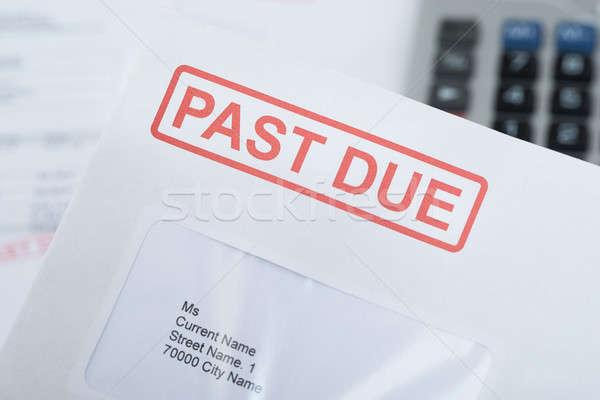 Vergangenheit Umschlag extreme Rechnung Mail Stock foto © AndreyPopov