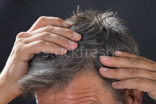 Homme cheveux blancs cheveux hommes Photo stock © AndreyPopov