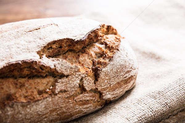 Fresh Baked Bread On Sack Stock photo © AndreyPopov