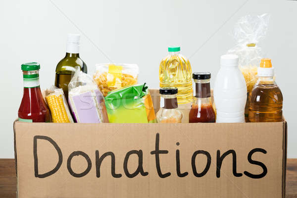 Donation Box With Food Stock photo © AndreyPopov