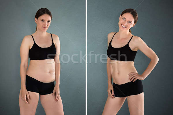 Before And After Diet Concept Stock photo © AndreyPopov
