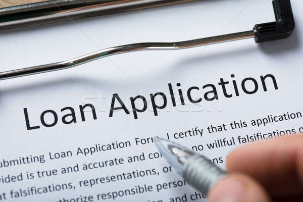 Close-up Of Loan Application Form Stock photo © AndreyPopov