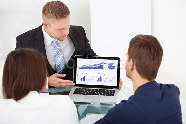 Advisor Explaining Investment Plan To Couple Stock photo © AndreyPopov