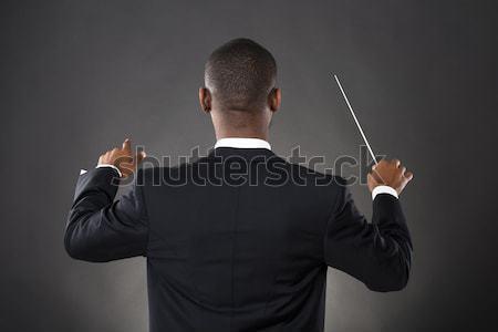 Orkiestrę mężczyzna muzyki ręce strony Zdjęcia stock © AndreyPopov
