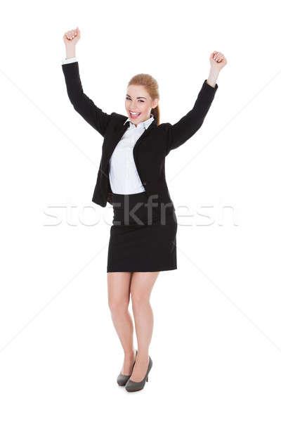 Ritratto di successo imprenditrice braccio bianco Foto d'archivio © AndreyPopov