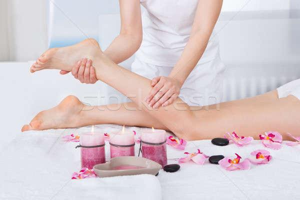 Woman Getting Feet Massage Stock photo © AndreyPopov