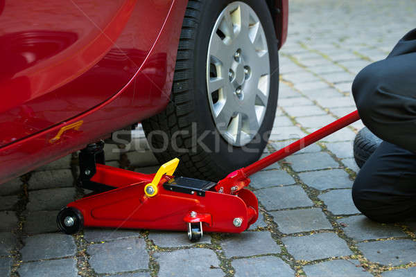 Cars Lifted Off The Ground For Repairing Stock photo © AndreyPopov