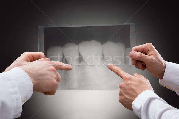 Doctors Examining Dental Xray Stock photo © AndreyPopov