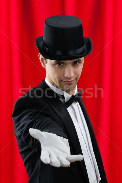 портрет маг молодые мужчины красный Сток-фото © AndreyPopov