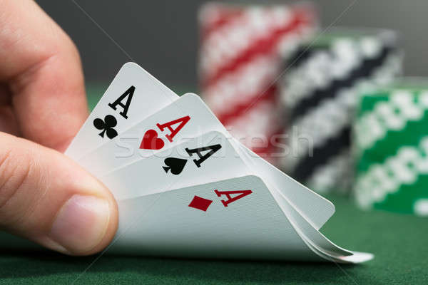 Poker Player Playing Cards Stock photo © AndreyPopov