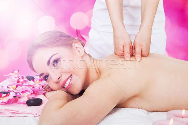 женщину назад массаж Spa молодые Сток-фото © AndreyPopov