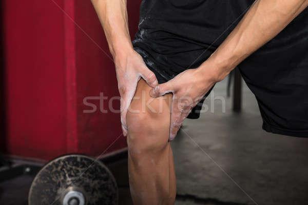 Persoon oefening man lijden Stockfoto © AndreyPopov