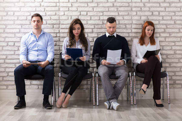 People Waiting For Job Interview Stock photo © AndreyPopov