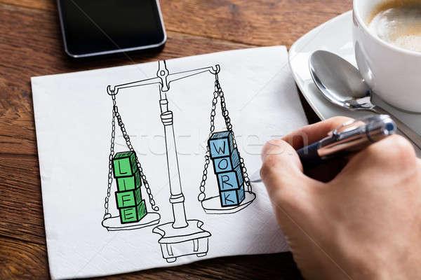 Work Life Balance Drawing Stock photo © AndreyPopov