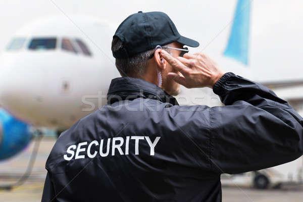 Vue arrière noir veste sécurité Photo stock © AndreyPopov