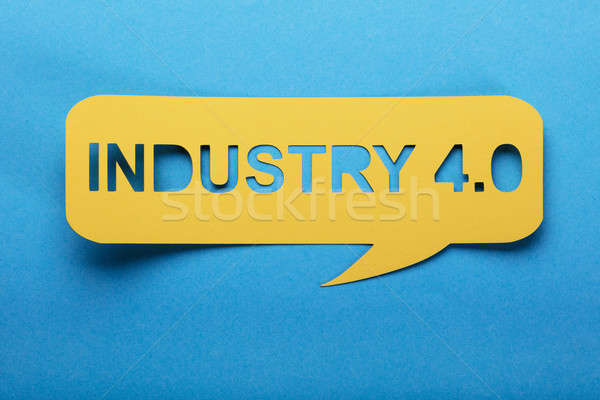 Bubble Speech With Cut Out Letters Industry 4.0 Stock photo © AndreyPopov
