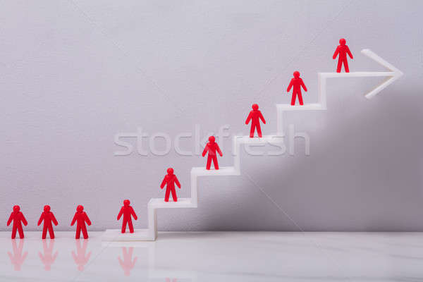 Red Human Figures On Increasing Graph Stock photo © AndreyPopov