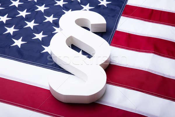 Weiß Absatz Symbol amerikanische Flagge Design Stock foto © AndreyPopov