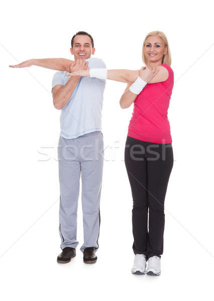 Portrait Of Couple Exercising Stock photo © AndreyPopov